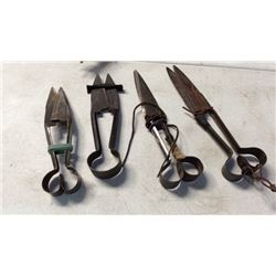 Collection Of 4 Shears
