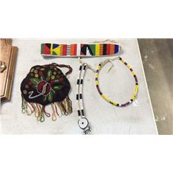 Collection Of Native American Beaded Items 4pc