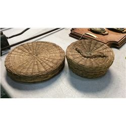 2 Native American Made Baskets