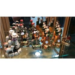 Collection Of 10 Porcelain Figures