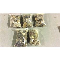 5 Bags of Agate Slabs