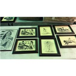 7 Original Drawings by Mi Elk Shoulder