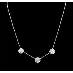1.57 ctw Diamond Necklace - 14KT White Gold