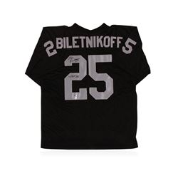 Oakland Raiders Hall of Famer Fred Biletnikoff Autographed Jersey GA Certified