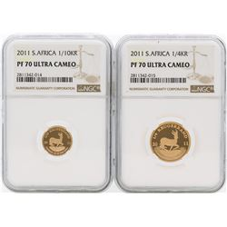 2011 PF70 Ultra Cameo Krugerrand 4 Coin Proof Set