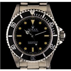 Rolex Stainless Steel Submariner Men's Watch