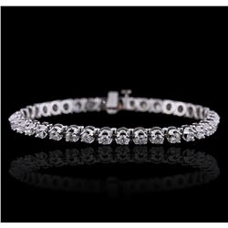 14KT White Gold 4.44 ctw Diamond Tennis Bracelet