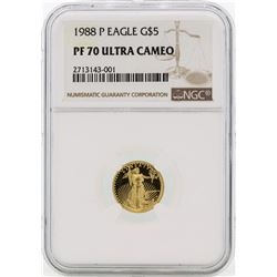 1988-P PF70 Ultra Cameo 5$ Golden Eagle