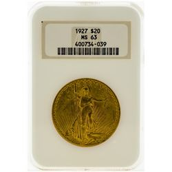1927 NGC MS63 $20 Eagle Gold Coin