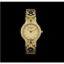 Patek Philippe 18KT Gold 1.00 ctw Diamond La Flame Watch