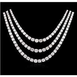 14KT White Gold 11.60 ctw Diamond Necklace