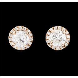 1.64 ctw Diamond Earrings - 14KT Rose Gold