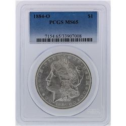 1884-O PCGS MS65 Morgan Silver Dollar