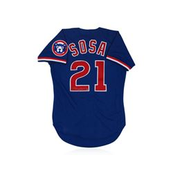Chicago Cubs Sammy Sosa Autographed Jersey