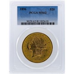 1896 PCGS MS62 $20 Liberty Head Double Eagle Gold Coin