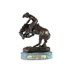 Rattlesnake Bronze Replica By Frederic Remington