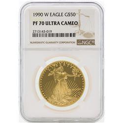 1990-W PF70 Ultra Cameo $50 Gold Eagle