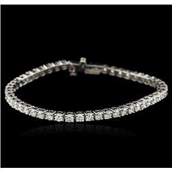 14KT White Gold 4.96 ctw Diamond Tennis Bracelet