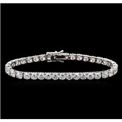 18KT White Gold 14.97 ctw Diamond Tennis Bracelet