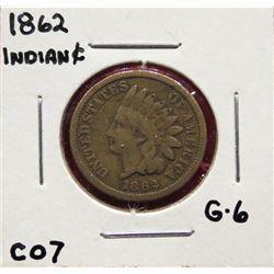 Three Indian Head Cents 1862  G6.  1863  G6.  1865 G4. $25-35