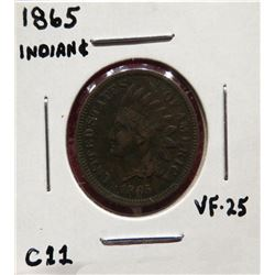 1865 Indian Head Cent VF25. $20-40