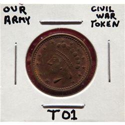 Our Army Civil War Token $15-25