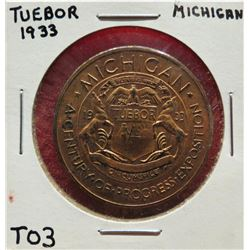 Tuebor, Michigan, 1933 & Longview, WA. Wooden Nickel $15-25