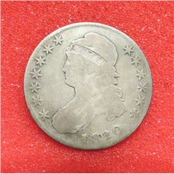 1820 Capped Bust Half Dollar 20/19 Square base 2. G4. $80-120