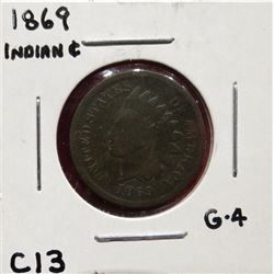 1869 Indian Head Cent G4. $60-80