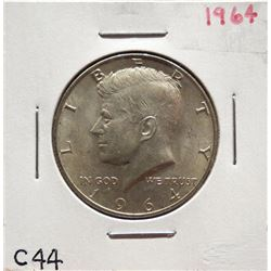 Two 1964 Kennedy Half Dollars $20-40