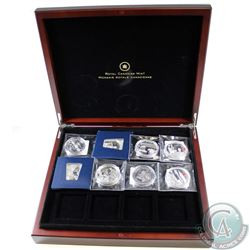 8x 2011 & 2012 Queen's Diamond Jubilee Fine Silver Proof Coins Sealed in Original Pouches with Delux
