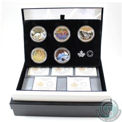 2016 & 2017 Canada $20 Landscape Illusion 5-coin Fine Silver Set in Beautiful RCM Display Case (TAX