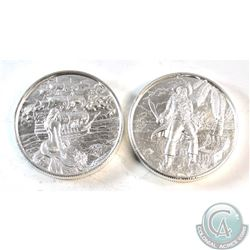 Pair of 2oz The Privateer Series .999 High Relief Fine Silver Coins - The Captain & The Siren (TAX E