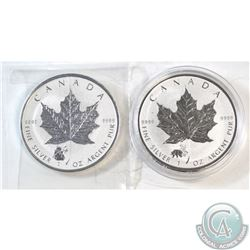 Pair of Canada $5 Panda Privy .9999 Silver Maple Leafs. You will receive 2016 Sealed in original pla