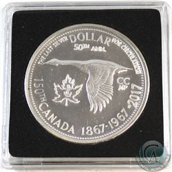 1967 Leaf & Anchor Counter-Stamped Silver Dollar Commemorating the 150th Anniversary of Canada in Pr