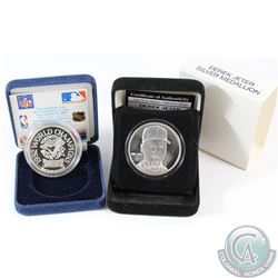 Lot of 2x Baseball 1oz .999 Fine Silver Rounds. You will receive a Derek Jeter Round (scratch on obv