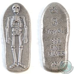 3oz Monarch Skeleton .999 Fine Silver (TAX Exempt)