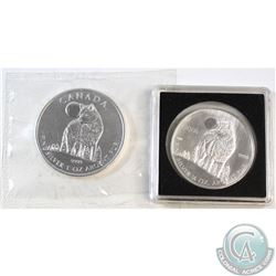 2006 Canada 1/2oz & 2011 1oz .9999 Fine Silver Commemorative Wolf Coins. 2011 is sealed in original