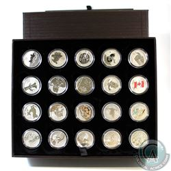 2011 to 2015 Canada $20 for $20 & $25 for $25 Fine Silver Coins In the original RCM display Box & ce