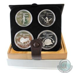 1976 Montreal Olympics 4-Coin Silver Proof Set # 13-16 with Original Display Box and Certificate of