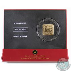 2006 Canada $3 Square Sterling Silver Coin -The Beaver. Coin comes encapsulated in red display case