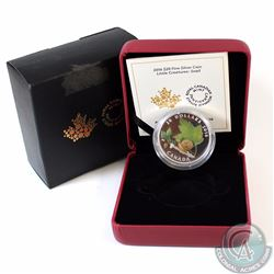 2016 Canada $20 Little Creatures - Snail With Murano Glass Fine Silver Coin (Outer sleeve has surfac