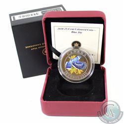 2010 Canada 25-cent Blue Jay Coloured Coin.