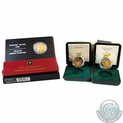 Lot of 3x Canada 50-cent Canadian Floral Series Gold Plated Sterling Silver Coins. You will receive
