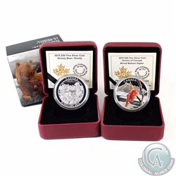 2015 Canada $20 Forests of Canada Boreal Balsam Poplar (Missing outer sleeve) & 2015 $20 Grizzly Bea