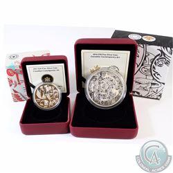 Lot of 2x Canada $30 Canadian Contemporary Art Fine Silver Coins - 2013 Carlito Dalceggio & 2014 Tim