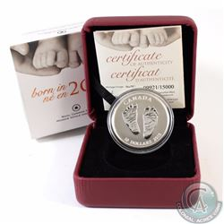 2013 Canada $10 Baby Feet Welcome to the World Fine Silver Coin (TAX Exempt)