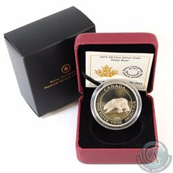 2013 Canada $8 Polar Bear Proof 1.5 oz. Fine Silver Coin (Capsule lightly scratched & small toning s