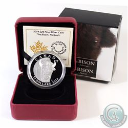 2014 Canada $20 The Bison: A Portrait Fine Silver Coin (TAX Exempt)