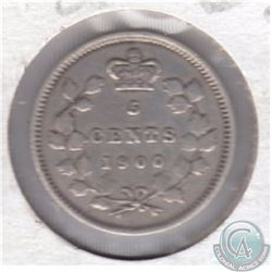 1900 Canada 5-cent Round 0. Please see picture for grade.